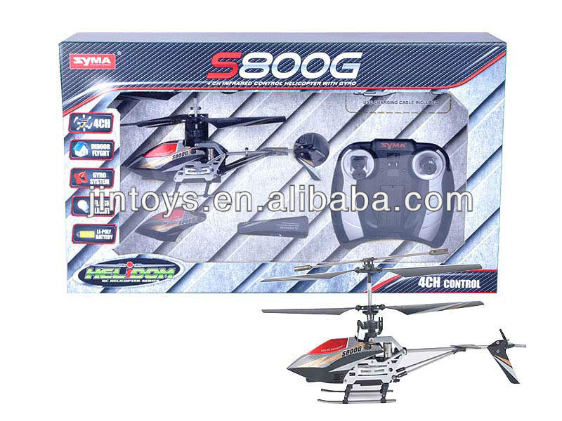 Syma S800G Gyro Metal Frame 4 Channel Coaxial Indoor RC Helicopter