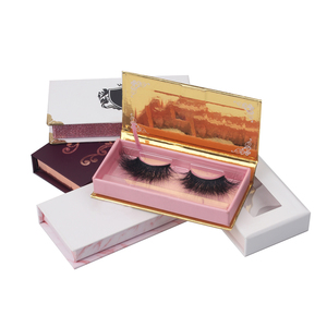 ThinkShow Whosale 3D Mink False Eyelash 6D Faux Mink Korean Silk Eye Lash Private Label Own Brand Custom Packaging Box Vendor