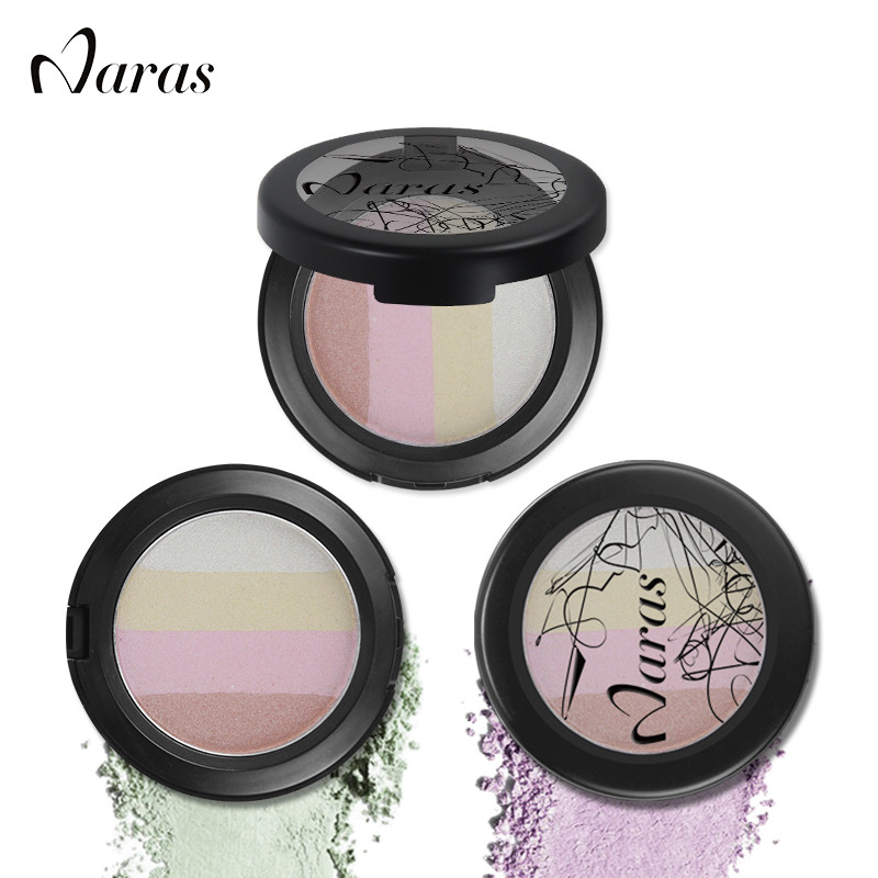 Naras cosmetics 4colors highlight face glitter foundation