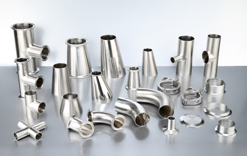 SS304 SS316L parts stainless steel sanitary pipe fitting