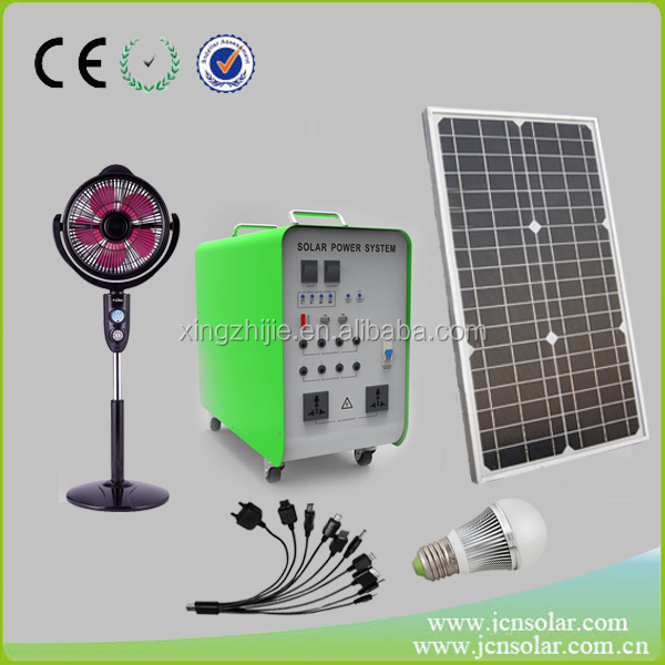 Professional manufacturer 300w 500w 1000w solar fan lighting system for sale