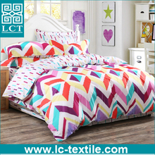 no MOQ limited latest design 100% cotton 40s 133x72 colorfull bedding set made in india