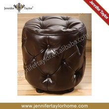 Paris Tower Moroccan leather pouf ottoman footstool