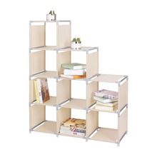 4-tier 9-Cube bookcase book <strong>shelf</strong> for living room furniture