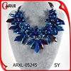 choker necklace woman wholesale chunky flower stand crystal statement necklace