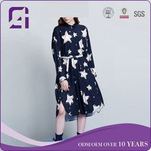 2017 new long sleeve girls sexy night dress for ladies
