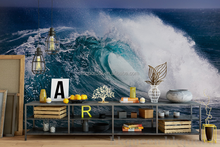 3D sea wave customized decorative ceramic wall tiles with beautiful beach scenery