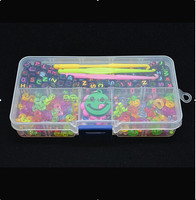 Wholesale DIY jewelry finding tool (Mixed color letter charm S&c CLIPS hook) rubber loom band charms bags 672009