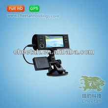 China hot sale two cameras security mirror lcd car dvr with GPS /hidden digital camera for cars