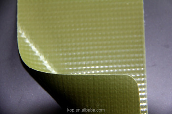 Industrial vinyl-coated polyester mesh for covers