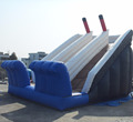 Fun inflatable slide/double water slide for water park slide