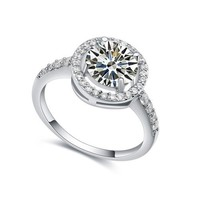WEDDING RINGS FOR BRIDE FINE RINGS MICROPAVE SETTING JEWELRY