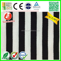 hotsale black white striped cotton fabric upholstery