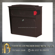 hot selling chocolate powder coating mailbox lockable fabrication,new products with good quality