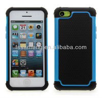 Light blue protecter case for iphone 5c with football team texture new arrival