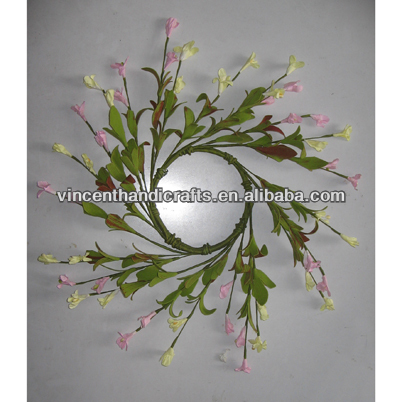 Spring style artificial flower wreath