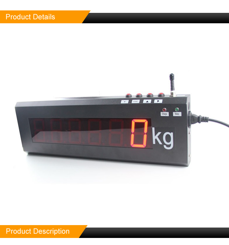 Customize Size IRDW01 Wireless Scoreboard Indicator LED Digital Weight Scale Display
