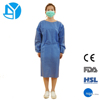 Blue color disposable dental modest hospital doctor gowns