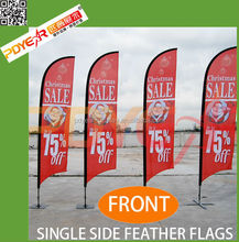 custom advertising car window flag sticks