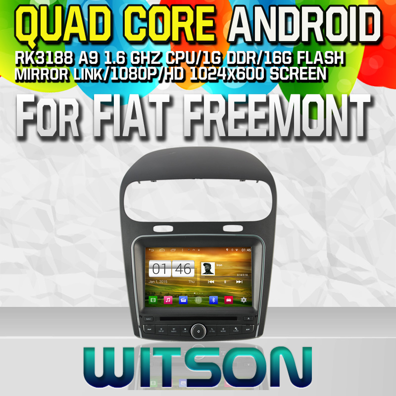 Witson S160 Android 4.4 Car DVD GPS CAR DVD GPS PLAYER For FIAT FREEMONT with Quad Core Rockchip 3188 1080P 16g ROM