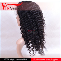 pre plucked natural hairline deep curly human hair half wigs with baby hair
