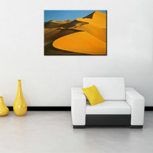 High Quality Beautiful Modern Canvas House Desert Landscape Painting on the Wall