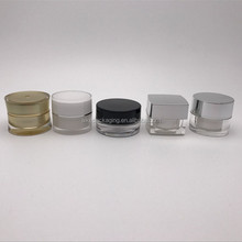 Aike cosmetic packaging 5g small square jar small black plastic small cosmetic containers
