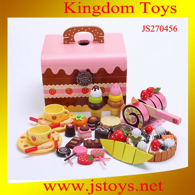 2015 Funny educational kitchen wooden toy