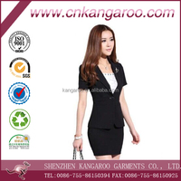 2014 fashion bespoke business slim fit 1 button women suit