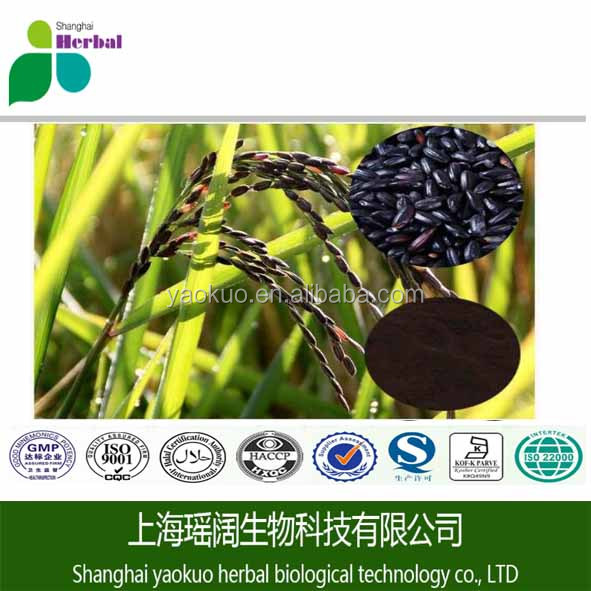 Factory supply 100% Natural Black rice powder,black rice extract