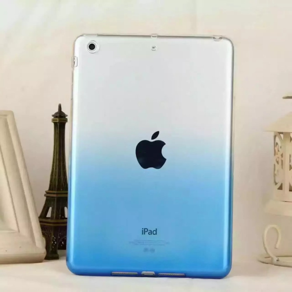 New Gradient Color TPU Soft Back Case Protective Case For iPad pro 9.7