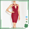 Sexy cutout cheap red bandage dress for women fashion dress women wear