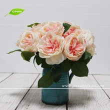 GNW FL-RS28-8.5CM Real touch Single stem Silk Rose Artificial Flower for wedding decoration