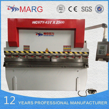 Export to Hungary cnc plate press break, 63tons pressure cnc hydraulic sheet metal bender machine