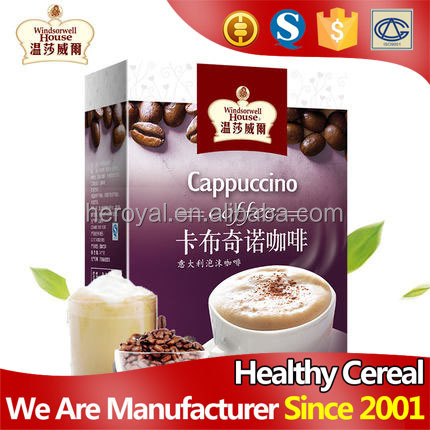 Hot sale individual packing 200g coffee instant cappuccino