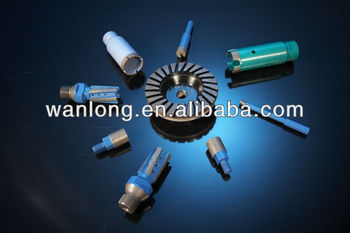 Long life diamond core drill bit for dry/wet drilling
