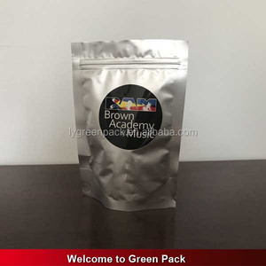 stand up aluminum foil food bag resealable meat packaging shrink plastic bags for frozen food