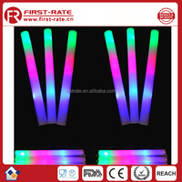 Customized logo colorful part Flashing Led foam glow stick