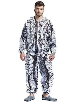 Snow Wild Zipper Ghillie Suit for Hunting Shooting Birdwatching