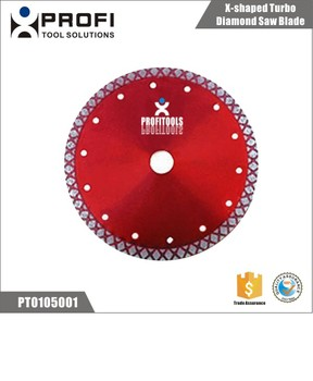 Hot Sale X-shaped Turbo Type Diamond Saw Blade For Granite