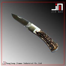 Popular Standard Blade Buckhorn Handle Folding Knife