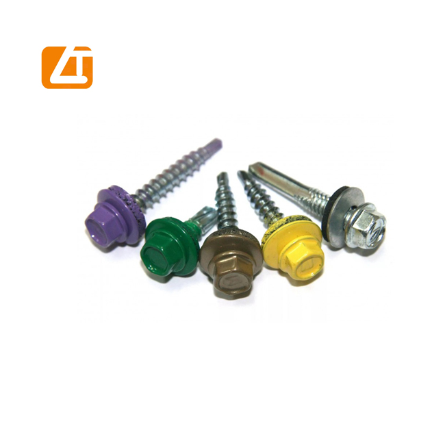 10 years manufacturer DIN7504K self drilling roofing <strong>screws</strong> with washer rubber