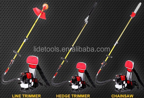 52CC Back-pack brush cutter whipper snipper line weed trimmer 4 in 1