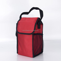polyester warmer insulated box hand carry zipper lunch cooler bag