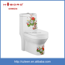 Custom one piece bathroom ceramic wash down women wc toilet