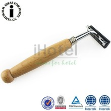 Safety And Convenient Wood Handle Shaving Razor