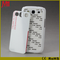 2D sublimation material case for samsung s3 i9300 pc case accept customize