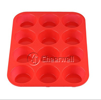 Small Silicone Mini Muffin Pans - Top Non-Stick Bakeware for Muffins, Cakes and Cupcakes - 12 Cups Silicone Mold