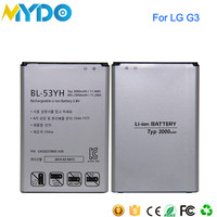 Long time battery mobile phone BL-53YF for LG G3 BL T7 batteries
