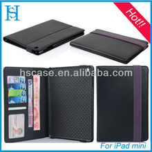 Business PU leather tablet case smart cover for ipad mini